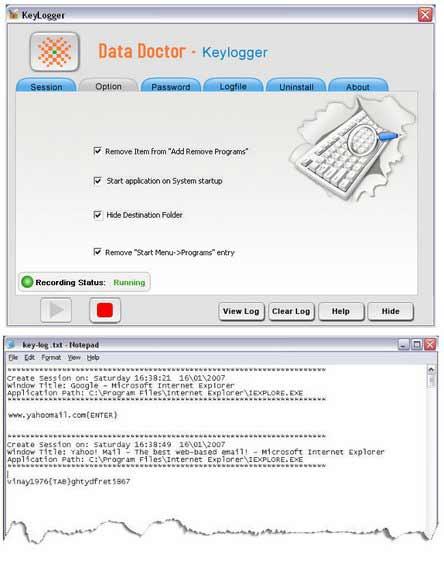 Keylogging Program screenshot