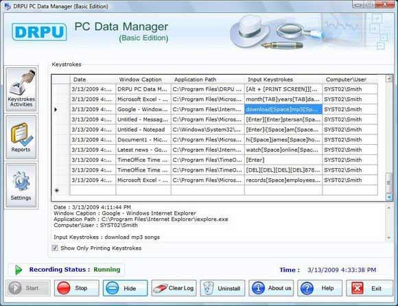 Keyboard Capture Software screenshot