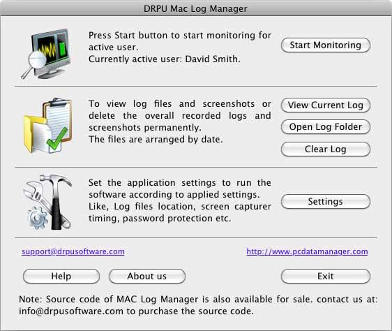 Mac Spyware screenshot