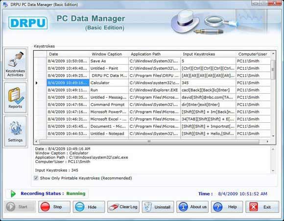 Keylogger Free Download screenshot